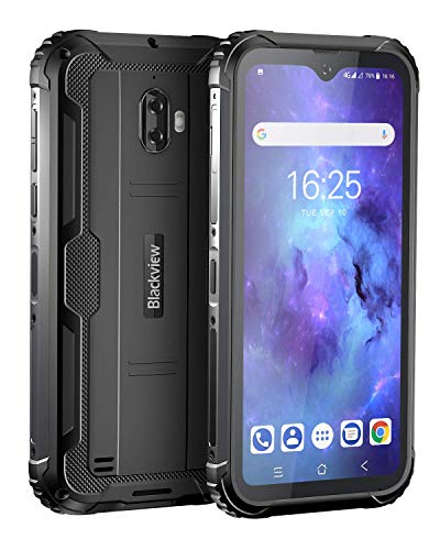 Unlocked Rugged Smartphones, Blackview BV5900 4G LTE Rugged Cell Phones with Android 9.0 IP68 Waterproof Drop Proof, 5.7' Screen 3GB+32GB Dual SIM 5580mAh Battery for GSM AT&T T-Mobile, Black