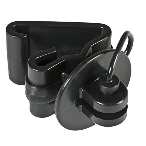Zareba ITPLB-Z Pin-lock T-Post Insulator, 25 per Bag,Black