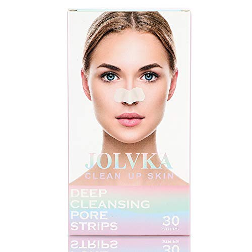 JOLVKA Blackhead Pore Strips, 30 strips, Blackhead Remover Deep Cleansing Pore Strips For Nose, Hypo Allergenic and Oil Free