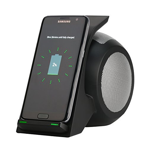 Fast Wireless Charger with Bluetooth Speaker,CENSHI Wireless Charging Stand Compatible iPhone11,11Pro,11Pro Max, Xs,XS Max,XR, X,8,8Plus, Samsung Galaxy S10e,S10+,S10,S9,S9Plus,Note10,Note 9 and More.