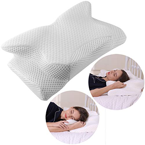 Coisum Cervical Pillow Contour Pillow for Neck and Shoulder Pain, Orthopedic Memory Foam Pillow Ergonomic Bed Pillow for Side Sleepers Back Sleepers, Neck Support Pillow