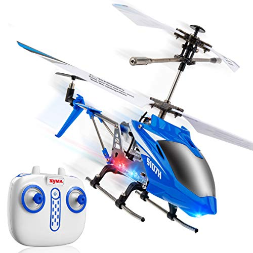 Syma Wind Hawk Remote Control Helicopter - Indoor RC Helicopter with Altitude Hold, LED Lights, Extended Flying Range, Multiple Flying Speeds for Adults and Kids, Includes Rechargeable Battery (Blue)