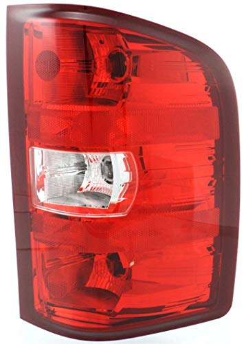 Tail Light Assembly Compatible with 2007-2013 Chevrolet Silverado 1500 Passenger Side