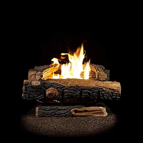 Emberside by SureHeat Sure Heat Mountain Vernon Oak Vent Free Dual Burner Natural Gas Fuel Log Set 18-Inch