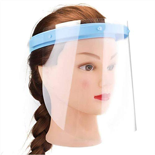 Inmedy Medical Supply Anti-fog Adjustable Dental Face Shield 10 Plastic Protective Film (Blue)