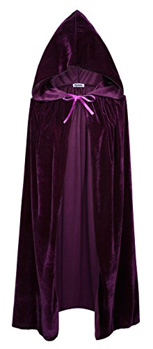 VGLOOK Kids Hooded Cloak Cape for Christmas Halloween Cosplay Costumes 5-7 Years Purple