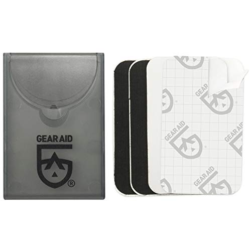 GEAR AID Tenacious Tape Mini Patches to Repair Jackets, Tents and Rain Gear, Black and Clear, 1.5x2.5