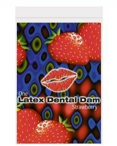 Trust Latex Dental Dam, Strawberry by Line One Laboratories Inc, 3 Count