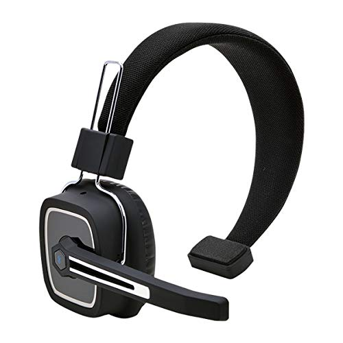 Truck Driver Bluetooth Headset/Office Headset, Wireless Over The Head Headset with Extra Boom Mic for Phones,Call Center, Skype, VoIP