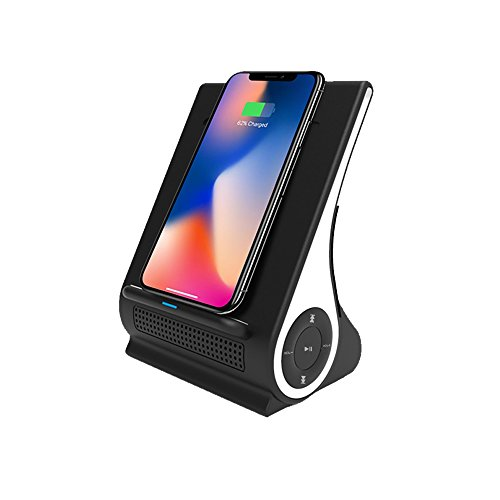 Azpen Dockall D101 QI Wireless Charging Sound Hub with Bluetooth Speaker (Black)