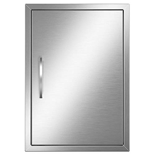 YITAHOME Outdoor Kitchen Grill Access Door, 17' W x 24' H Stainless Steel BBQ Access Door for Outdoor/Indoor Kitchen, Grill Station, Barbecue Grill, Square Handle