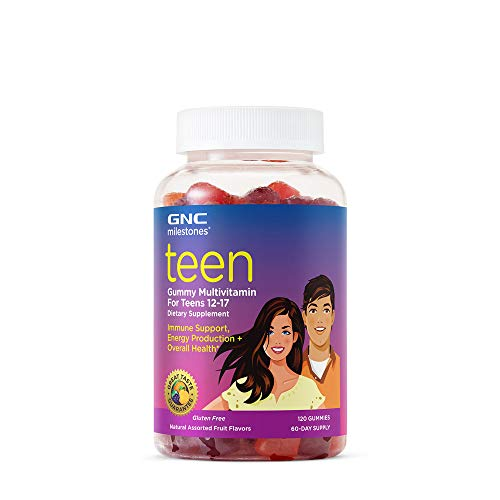 GNC milestones Teen Gummy Multivitamin - Natural Assorted Fruit Flavors