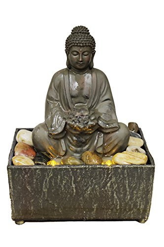 Nature's Mark 8' H Lotus Buddha LED Fountain with Adaptor
