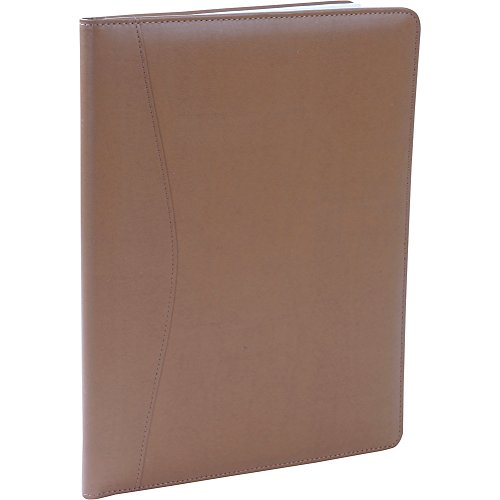 Royce Leather Writing Portfolio Padfolio, Presentation Folder, Business Case with Inserted Note Pad and Folder for Documents (Tan)