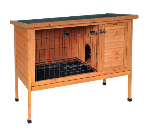 Prevue Hendryx 461 Large Rabbit Hutch, Stained Wood