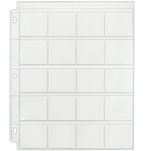 Clear File - Coin & Slide Page for 3-Ring Binders - Poly Archival-Safe Plastic - 25-Pack - 21B