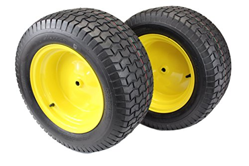 (Set of 2) 22X9.50-12 Tire & Wheel Assembly - Compatible with John Deere Part # GY20663
