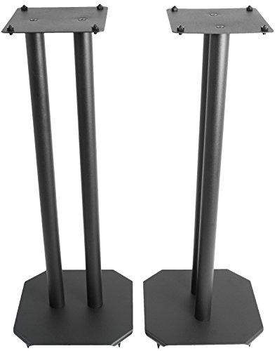 VIVO Premium Universal 25 inch Floor Speaker Stands for Surround Sound and Book Shelf Speakers (STAND-SP03B)