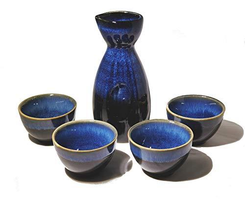 Zenfy Japanese Sake Set 5 piece blue