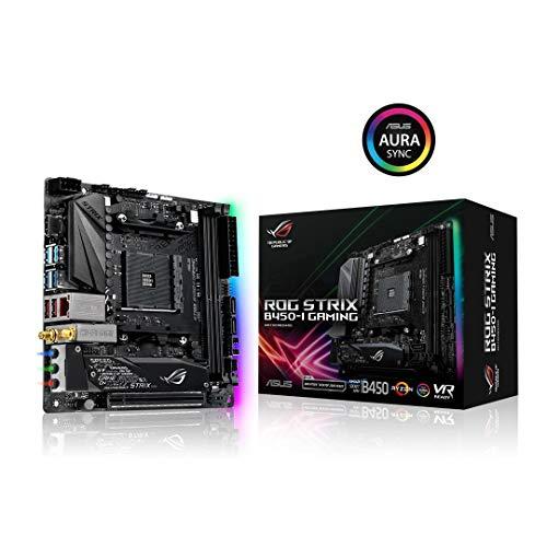 ASUS ROG Strix B450-I Gaming AMD AM4 (3rd/2nd /1stGen Ryzen ITX SFF Motherboard (Intel Gigabit Ethernet, 2x2 802.11ac Wi-Fi, USB 3.1 Gen 2 and Aura sync RGB Lighting)