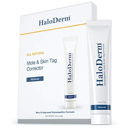 HaloDerm Skin Tag Remover & Mole Remover - All Natural Skin Tag Cream - Remove up to 3 Skin Tags (FAST Results In As Little As 3-5 Days) - Industry Leading Safe & Effective Formula