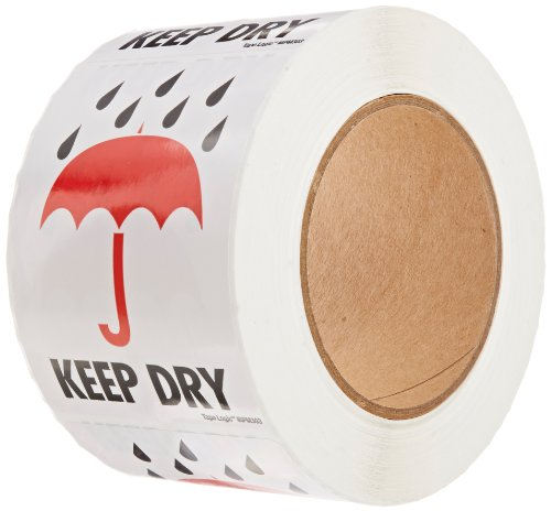 Tape Logic Shipping & Handling Label, Legend'KEEP DRY' with Graphic, Red/Black on White (IPM303)