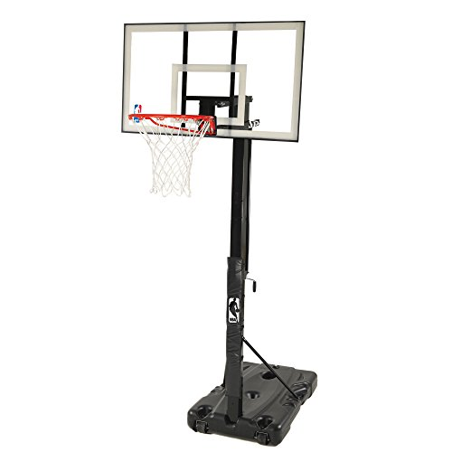Spalding 68395W NBA Portable Basketball Hoop with 54 Inch Polycarbonate Backboard