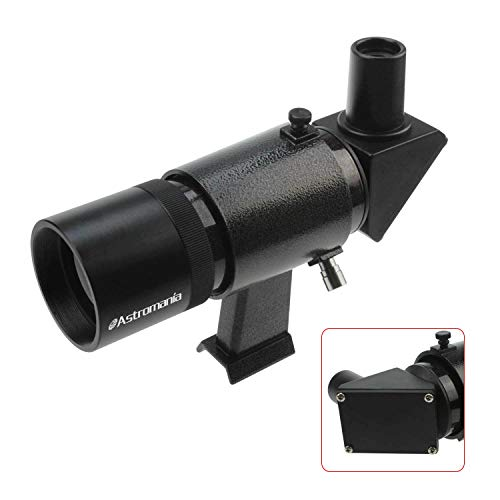 Astromania 9x50 Angled Finder Scope with Upright and Non-Reversed Image, Black