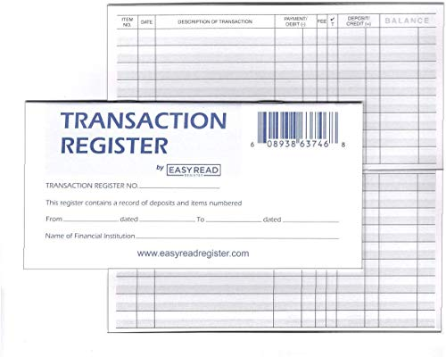 Personal Checkbook Registers, Set of 10, 2020-2021-2022 Calendars