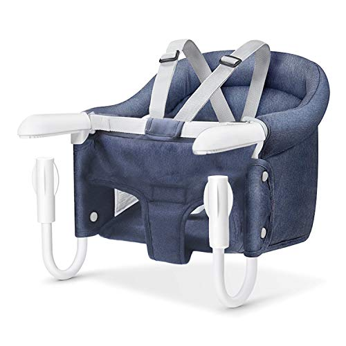 Hook On Chair, Safe and High Load Design, Fold-Flat Storage and Tight Fixing Clip on Table High Chair, Machine-Washable and Avoid Cracking Fabric, Removable Seat Cushion, Fast Table Chair
