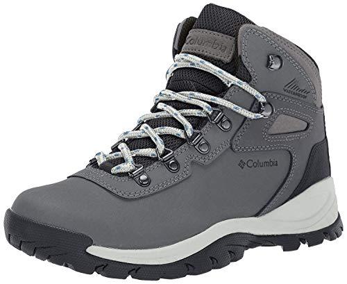 Columbia Women's Newton Ridge Plus Hiking Boot, Quarry/Cool Wave, 8.5 Regular US