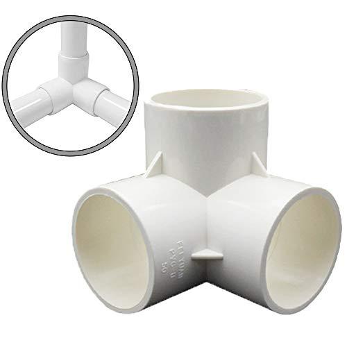3 Way PVC Corner Fitting 1/2'3/4' 1' PVC Elbow Corner Side Outlet Tee Fitting PVC 3Way 1/2 in Tee PVC Fitting Elbow - Build Heavy Duty PVC Furniture - PVC Elbow Fittings(3 Way 1''(10pack)