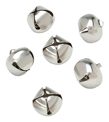 Darice 1099-21 30-Piece Bells, 3/4-Inch, Silver