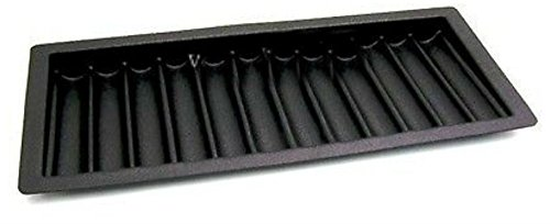 Unbranded Thick ABS Black Poker/Blackjack Chip Tray (12 Row / 600 Chip) - Item 95-0750