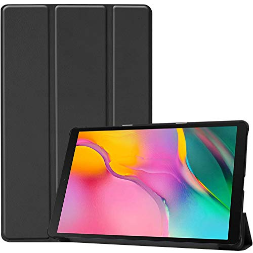 ProCase Galaxy Tab A 10.1 Case 2019 T510 T515 T517, Slim Light Cover Stand Hard Shell Folio Case for 10.1 Inch Galaxy Tab A 2019 Tablet SM-T510 SM-T515 SM-T517 -Black