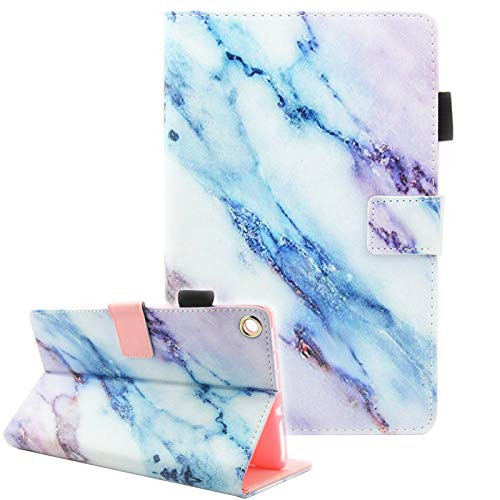 Fvimi All-New HD 8 Case, Slim Fit Folio Stand Leather Smart Cover with Auto Wake/Sleep for HD 8 (8th/7th/6th Generation, 2018/2017/ 2016), Can Not Fit HD 8 (10th Gen, 2020), Marble