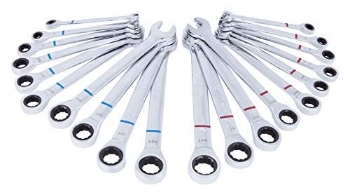 Kobalt 20-Piece Standard (SAE) and Metric Combination Ratchet Wrench Set
