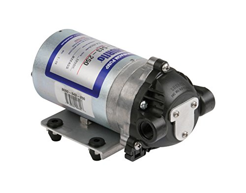 Pentair Hypro Shurflo 8000-543-250 Internal Bypass Agricultural Spraying Diaphragm Pump, 1.8 GPM c/w Santoprene Diaphragm, Viton Valves, Self-Priming Upto 8 Feet, 50PSI, 12V,  3/8' NPT Female Port