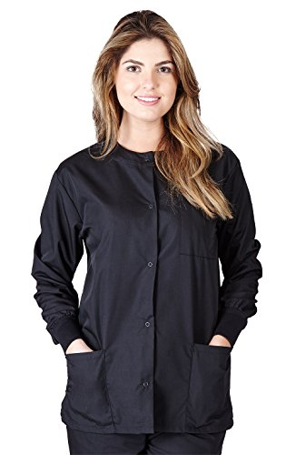 Natural Uniforms Women's Warm Up Jacket (Black) (X-Large) (Plus