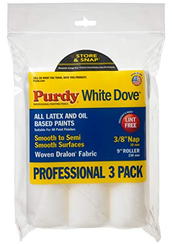 Purdy White Dove Roller Cover, 9 x 3/8 in., 3 count
