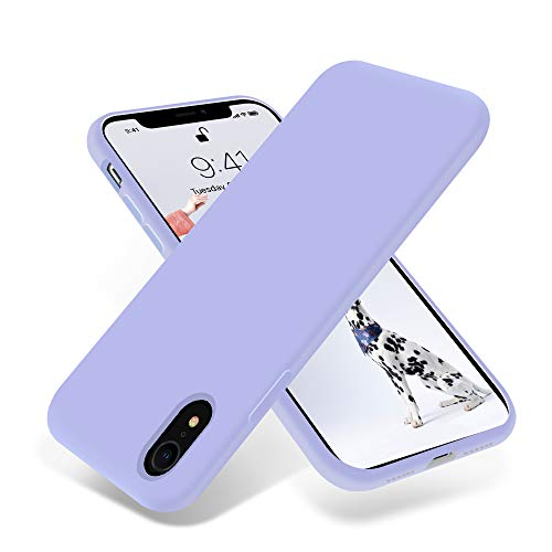 OTOFLY for iPhone XR Case, [Silky and Soft Touch Series] Premium Soft Silicone Rubber Full-Body Protective Bumper Case Compatible with Apple iPhone XR 6.1 inch - (Light Purple)