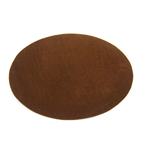 Beaulegan Repair Patches - 4 PCS Elbow Knee Iron-on Velvet Patches, Oval & Brown