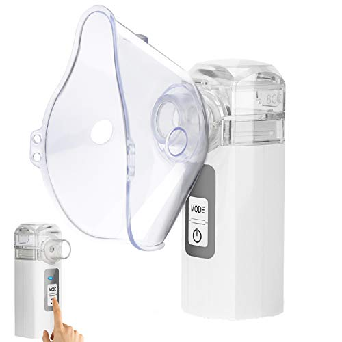 MAYLUCK Handheld Mesh Atomizer Nebulizer, Portable Nebulizer Machine for Home Daily Use, Ultrasonic Nebulizer Personal Steamer Inhalers for Breathing Problems