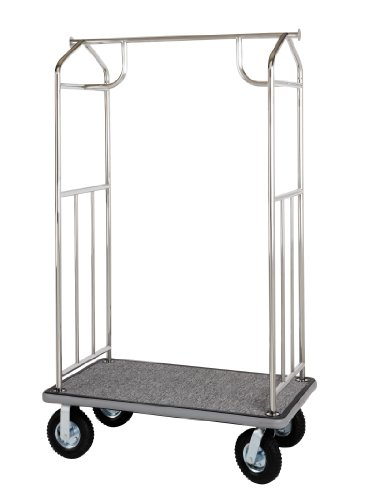 Wholesale Hotel Products Value Valet Bellman's Cart- Chrome Finish