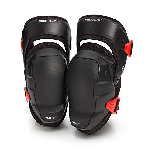 Prolock Weight-Dispersing Foam Knee Pads with Thigh Stabilization, Ideal for Flooring/Roofing, Adjustable (1 pair)