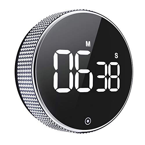 OVEKI Kitchen Timer, Magnetic Countdown LED Digital TimerTwist One Button Operation for Teacher Kids and Elderly,for Classroom Home Work Fitness