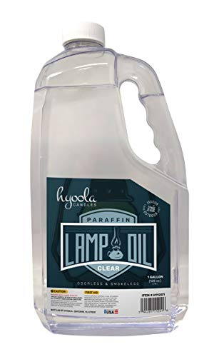 Hyoola 1-Gallon Liquid Paraffin Lamp Oil - Clear Smokeless, Odorless, Ultra Clean Burning Fuel for Indoor and Outdoor Use - Highest Purity Available Candles