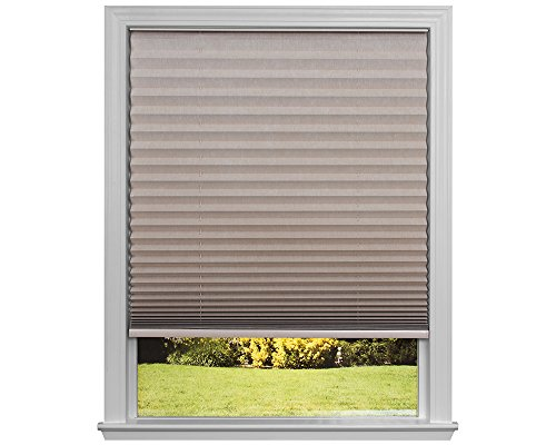 Easy Lift Trim-at-Home Cordless Pleated Light Blocking Fabric Shade Natural, 36 in x 64 in, (Fits windows 19'- 36')