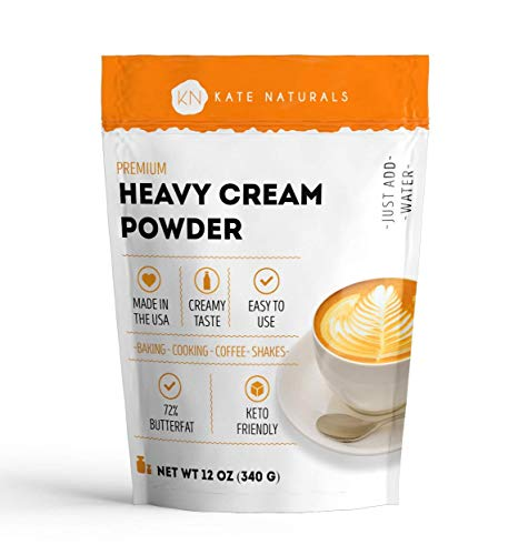 Heavy Cream Powder for Whipping Cream, Sour Cream, Butter, and Coffee. Keto Friendly and Gluten Free. 1-Year Guarantee (12oz)