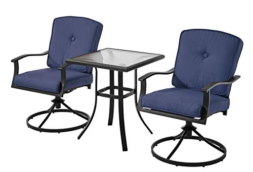 Mainstays Belden Park 3-Piece Bistro Set (Blue)
